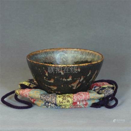A Chinese JiZhou-Kiln 'Paper Cutting' Bowl Southern Song Dyn