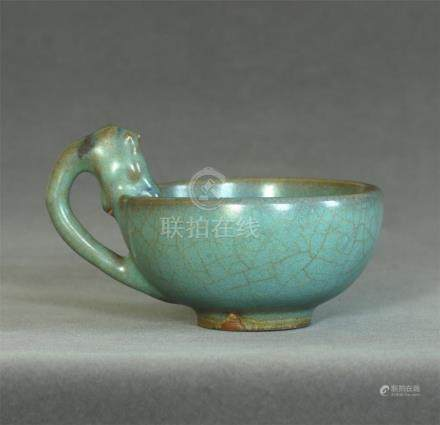 A Chinese Jun-Kiln Porcelain Cup Southern Song Dynasty.