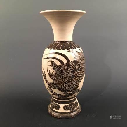 Chinese Cizhou Kiln 'Dragon' Vase