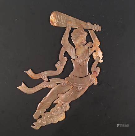 Chinese Archaic Jade 'Flying Apsaras' Puzzel