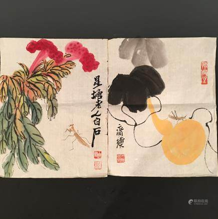 Chinese Water Color Painting, Baishi Signature