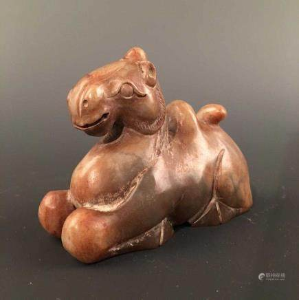 Chinese Archaic Jade 'Camel' Figure Ornament