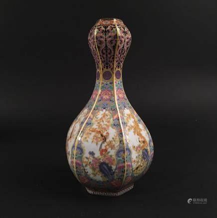 Chinese Famille Rose Vase, Yongzheng Mark