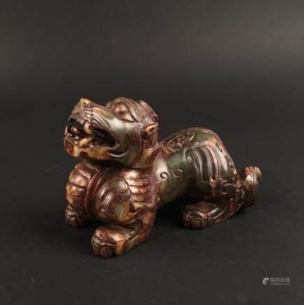 Chinese Archaic Jade 'Rui Shou' Statue Ornament