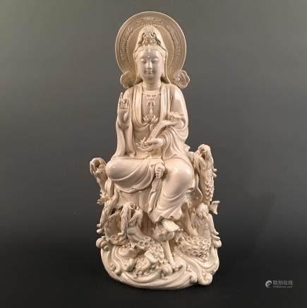 Chinese Porcelain Buddha Statue