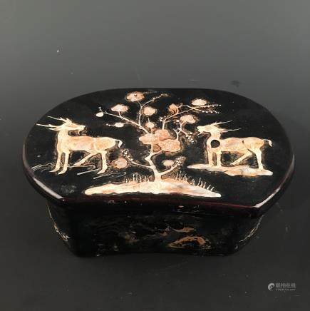 Chinese Ding Ware Engraved Design 'Deer' Box