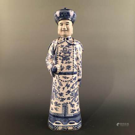 Chinese Blue-White Figure