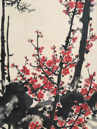 Chinese Hanging Scroll of 'Flower' Painting