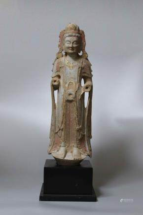 A EAST WEI FIGURE OF STANDING BUDDHA