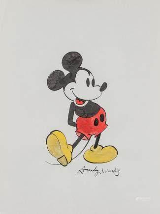 Andy Warhol American Pop Ink & Watercolor