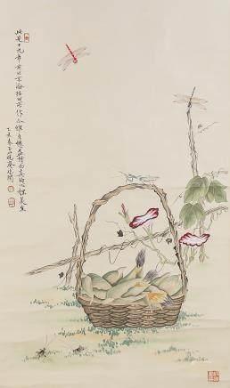 Yu Feian 1889-1959 Chinese Watercolor Flower