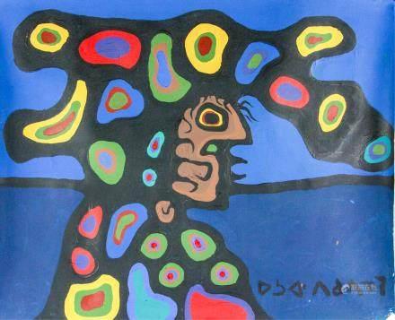 Norval Morriseau 1932-2007 Canadian Acrylic c 1975