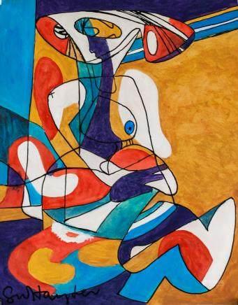 Stanley William Hayter British Abstract Tempera