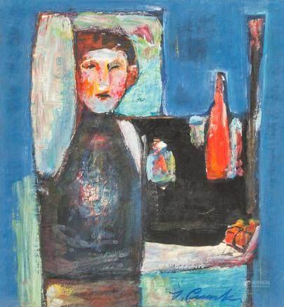 Igor Smychek b. 1953 Ukrainian Oil on Paper