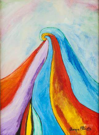 American Oil on Canvas Signed Georgia O'Keeffe
