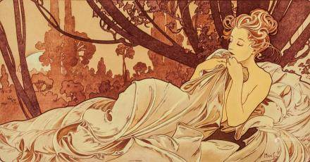 Alphonse Mucha Czech Symbolist Signed Litho 76/200