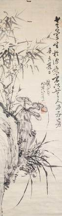 Tie Weng 1789-1877 Chinese Ink Bamboo and Linzhi