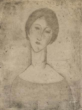 Amedeo Modigliani Italian Signed Linocut 26/75