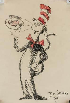 Dr. Seuss American Cartoonist Pencil on Paper