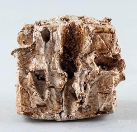 Lucio Fontana Italian Abstract Clay Sculpture