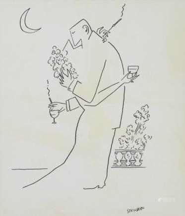 Saul Steinberg  American Pop Art Ink on Paper