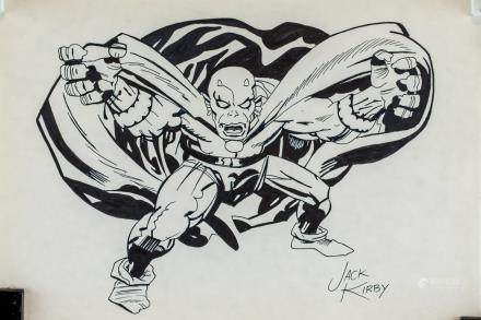 Jack Kirby American Pop Art Ink on Paper