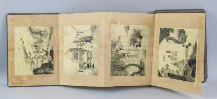 """Chinese Etching """"The Twenty-four Filial Exemplars"""""""