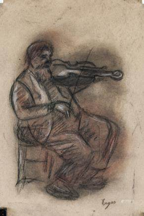 Edgar Degas French Impressionist Charcoal on Paper