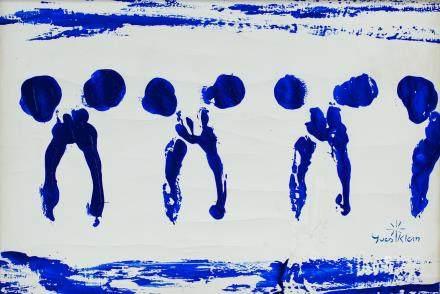 Yves Klein French Minimalist Oil on Canvas
