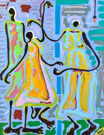 Patricia Erickson XX Costa Rican Acrylic/Paper
