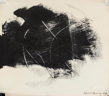 Hans Hartung French-German Abstract Ink '67