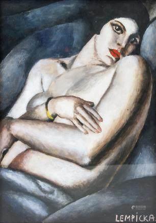 Tamara de Lempicka Polish Art Deco Cubist Oil