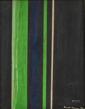 Barnett Newman 1905-1970 US Abstract Oil on Canvas