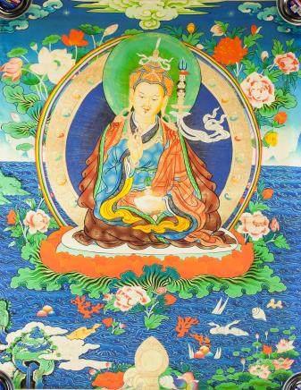Print Tanka of Tsongkhapa on Canvas