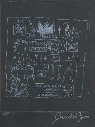 Jean-Michel Basquiat American Linocut 27/100