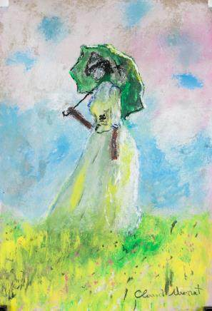 After Claude Monet French Chalk Pastel