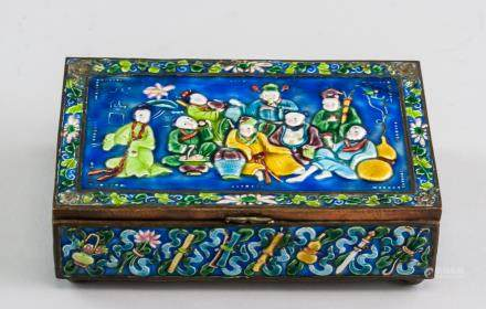 Chinese Canton Enameled Eight Immortals Box