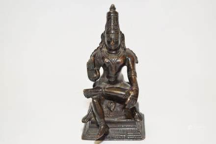 Southern India Bronze Buddha Figure