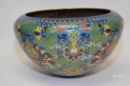 19-20th C. Chinese Cloisonne Mendicant Bowl