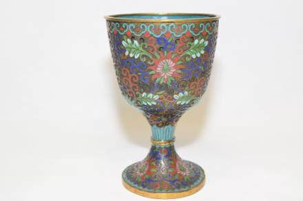 19-20th C. Chinese Cloisonne Wine Cup