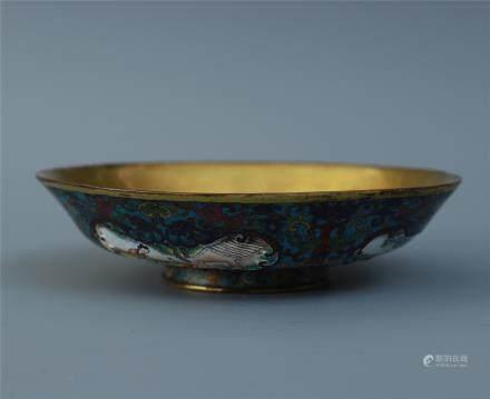 A Fine Cloisonne Enamel Bowl