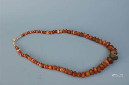 A String of Agate Beads