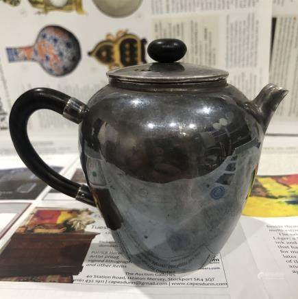 A Chinese Silver Sterling Tea Pot