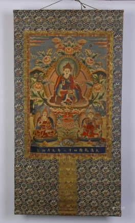 A Chinese Tibetan Tangka