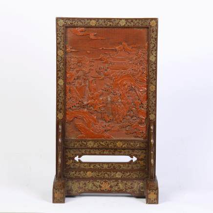 A Chinese Lacquer Screen