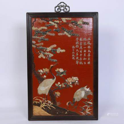 A Chinese Red Lacquer Screen