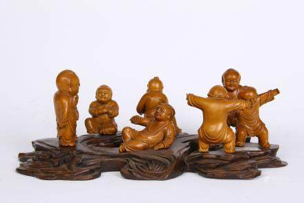 A Set Of Chinese Huangyang Wood Decoration