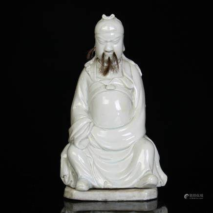 A Chinese White Glazed Porcelain Figure