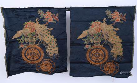 A Pair of Chinese Embroidery