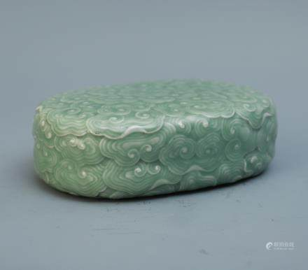 A Chinese Celadon Porcelain Pillow